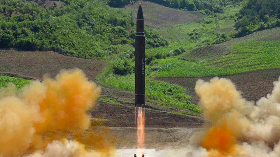 This July 4, 2017 file photo distributed by the North Korean government shows what was said to be the launch of a Hwasong-14 intercontinental ballistic missile, ICBM, in North Korea. (Korean Central News Agency / Korea News Service via AP, File)
