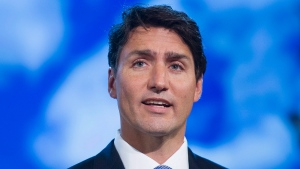 Prime Minister Justin Trudeau speaks during a UFCW Canada convention in Montreal, Thursday, August 31, 2017. (THE CANADIAN PRESS / Graham Hughes)