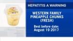 Risk of Hep A in fresh pineapple chunks