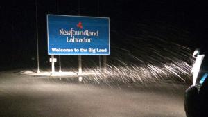 Twitter user Sheldon uploaded some photos of the snow on the Fermont Highway in Labrador. (sheldon_tuck/Twitter)