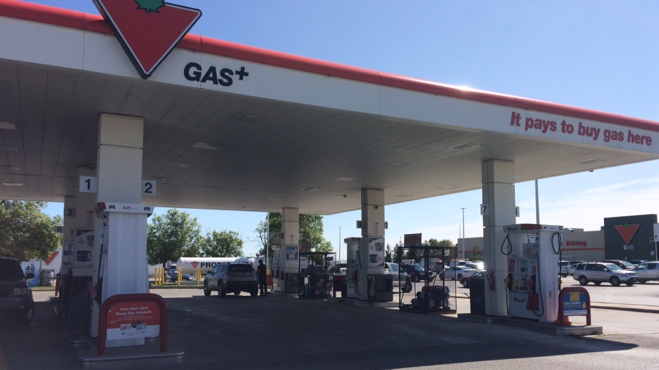 A gas station can be seen in Barrie, Ont. on Friday, Sept. 1, 2017. (Rob Cooper/ CTV Barrie)
