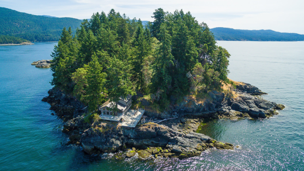 For $4.5 million, this six-acre island estate on B.C.'s Sunshine Coast can be yours. Just a 30-minute floatplane ride from Vancouver, the four-bedroom, three-bathroom home on Whitestone Island in the Georgia Strait has 270-degree uninterrupted views of the ocean.  Real estate agent Shaz Karim says the island is home to many species of wildlife, including sea otters and a variety of ocean birds. There are also two resident bald eagles. The home has nearly 2,500 square feet of decks and viewing areas, and a private secured dock can accommodate multiple boats. (sothebysrealty.ca)