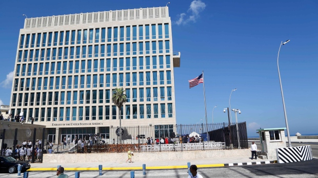 A U.S. flag flies at the U.S. embassy in Havana, Cuba on Aug. 14, 2015. (AP / Desmond Boylan)