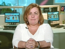 Johanne Durocher, the mother of Nathalie Morin, speaks on Canada AM from CTV's studios in Montreal, Thursday, April 16, 2009.