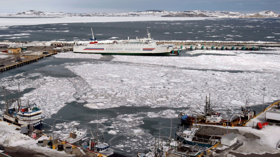Boats sit in the harbour of Cap-aux-Meules in Iles-de-la-Madeleine, Quebec Sunday March 30, 2008. THE CANADIAN PRESS/Ryan Remiorz