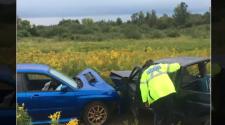 Guelph crash pickup car Wellington