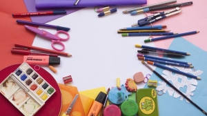 Back-to-school stationary seen in this stock image. (Pexels)