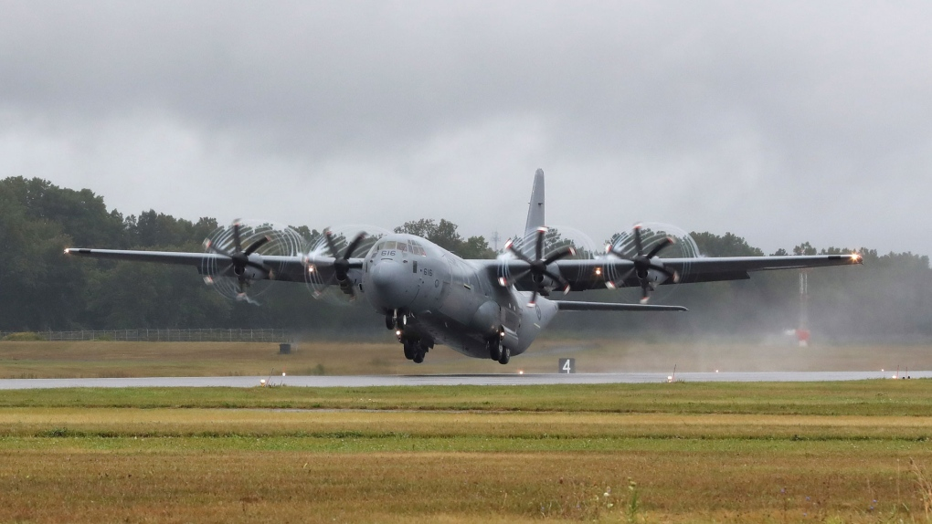 Canadian Forces Hercules plane