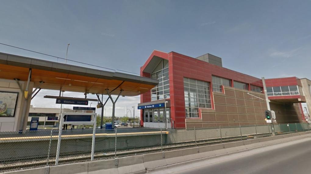 Whitehorn LRT station in Calgary