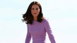 In this Friday, July 21, 2017 file photo  Kate, the Duchess of Cambridge is pictured. ( Christian Charisius/Pool Photo via AP, File)