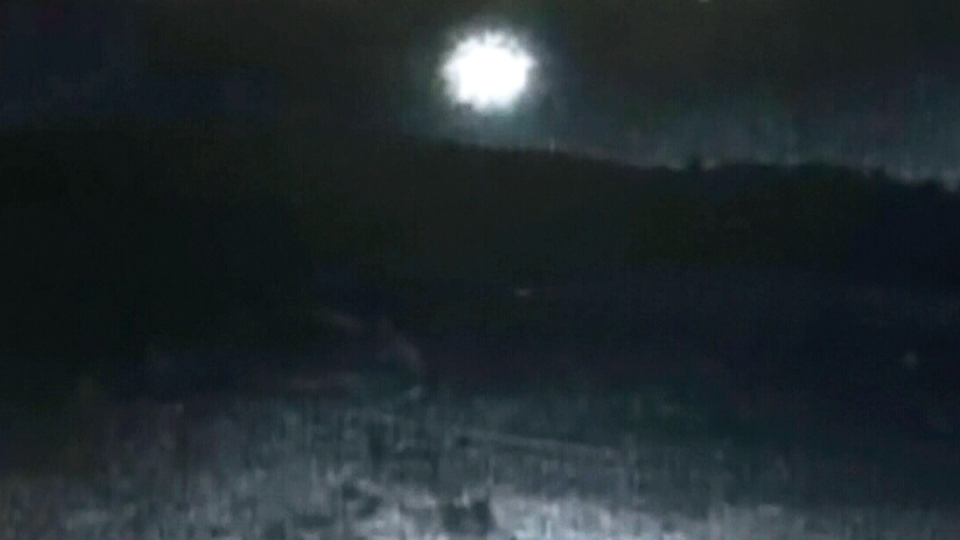 Great ball of fire: Witnesses report streaking meteor over