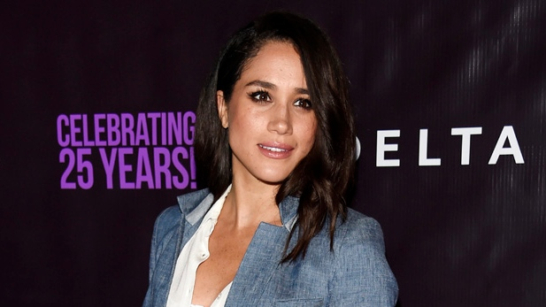 "In this May 20, 2016. file photo, actress Meghan Markle poses at P.S. Arts' ""the pARTy!"" in Los Angeles. (Chris Pizzello /Invision/AP)"