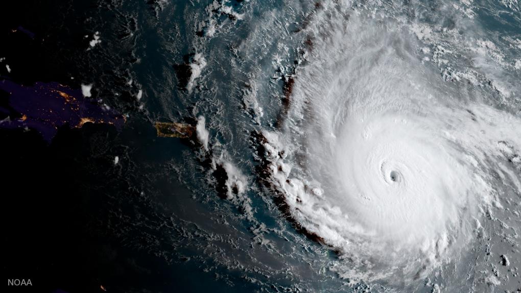 geocolor image captured by GOES-16
