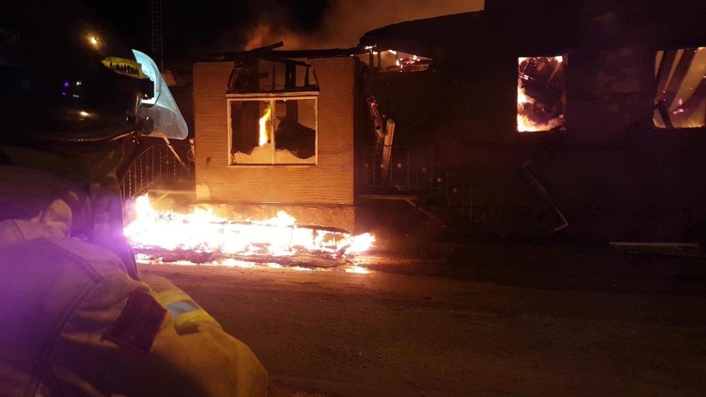 Neudorf hotel destroyed by fire
