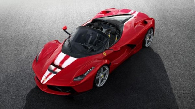 This LaFerrari Aperta has been built to benefit the charity Save the Children. (Ferrari North Europe)