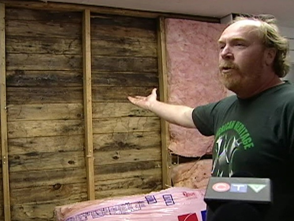 Kevin Dye says his home is covered in mould left over from a grow-op by the old owner. April 17, 2009.