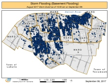 City flood map Sept 6