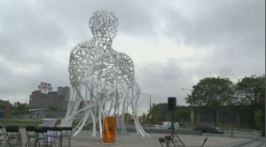 Called 'Source,' the sculpture is by acclaimed Spanish artist Jaume Plensa.