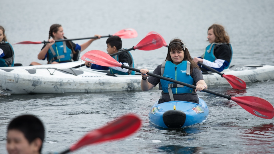 Maggie MacDonnell is using her US$1 million prize money to revitalize the culture of kayaking. (The Varkey Foundation)