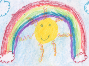 Weather art by Kaylee, age 8.