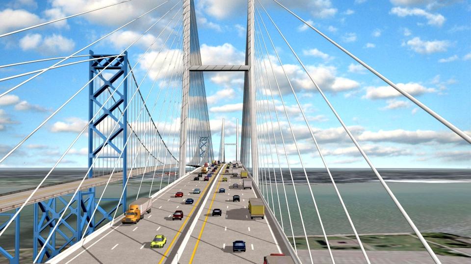 Ambassador Bridge Twin Span artist rendering (Source: Ambassador Bridge Company)