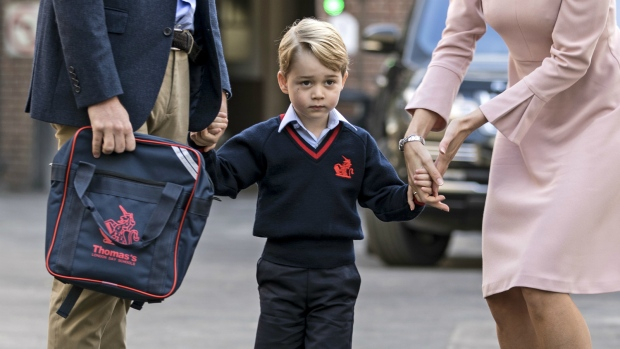Prince George attends first day of school