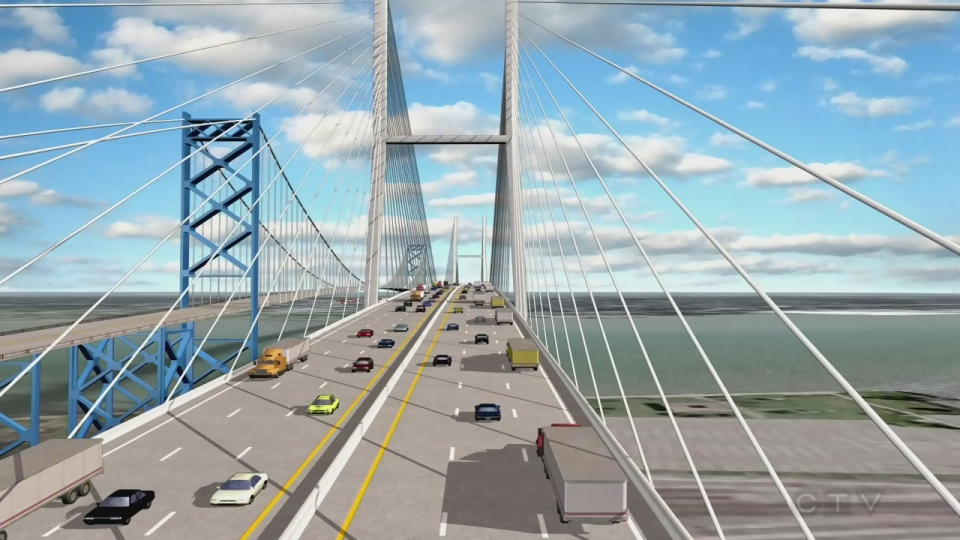 Ambassador Bridge new span concept.