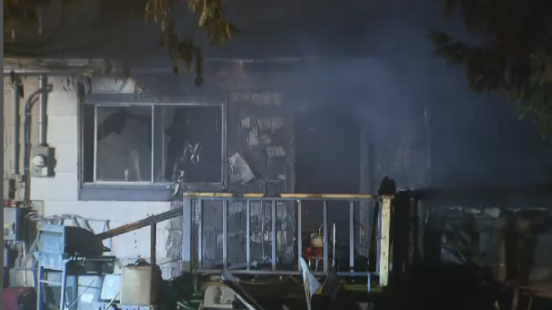 Members of the Integrated Homicide Investigation Team have been called to the scene of an early morning house fire in Surrey.