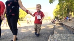 Ft. Sask toddler's trek almost done