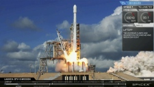 SpaceX Falcon rocket launching in Florida