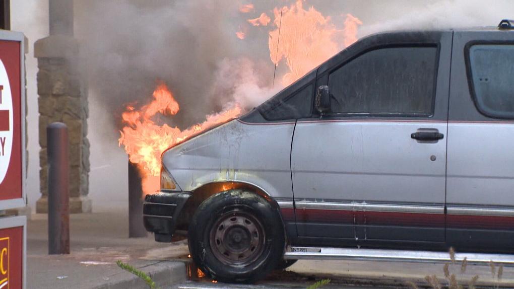 Courtenay vehicle fire