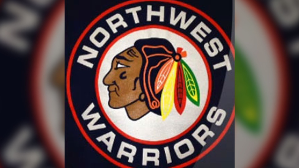 The Northwest Warriors hockey team's logo resembles the famous emblem for the Chicago Blackhawks in the NHL.