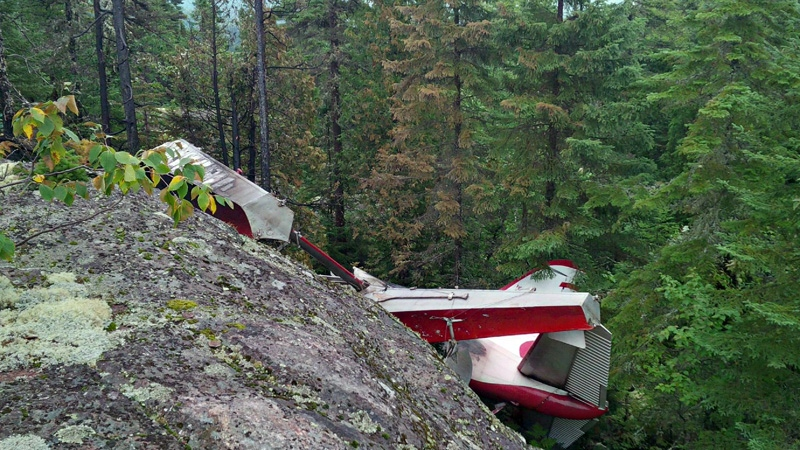 Wreckage of an Air Saguenay plane