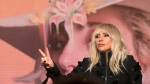 Lady Gaga appears at the press conference for 'Gaga: Five Foot Two' at the Toronto International Film Festival, in Toronto on Friday, Sept. 8, 2017. (Chris Young / THE CANADIAN PRESS)