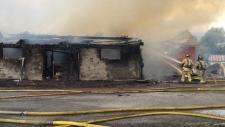 fire at Black Rapids Dairy Farm