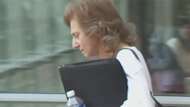 Patricia Couture is seen leaving court in Calgary in this undated photo.