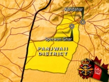 The Canadians were near Sperwan Ghar, west of Kandahar when their unarmoured vehicle struck a bomb planted by insurgents.