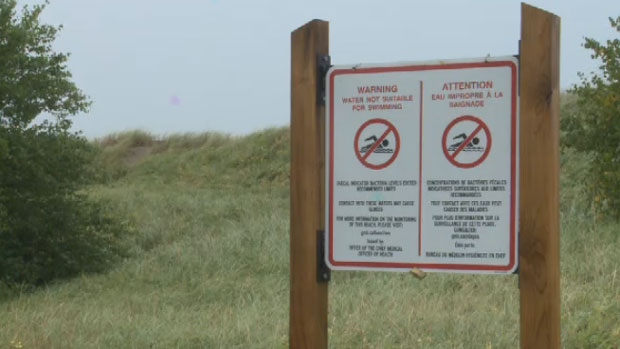 The New Brunswick Department of Tourism says Parlee Beach was closed a total of nine times out of 106 days this season.