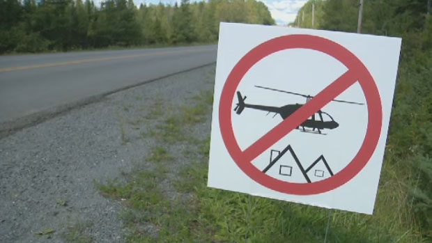 The helicopters are owned by a local charter company and operating from a 72-acre piece of land in the area.