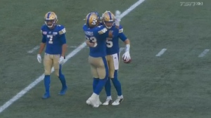 Winnipeg scored a 48-28 win on home turf in the annual rematch game held at Investors Group Field.
