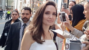 "Angelina Jolie attends a premiere for ""The Breadwinner"" at the Toronto International Film Festival Sunday, Sept. 10, 2017, in Toronto. (Mr. Will Wong)"