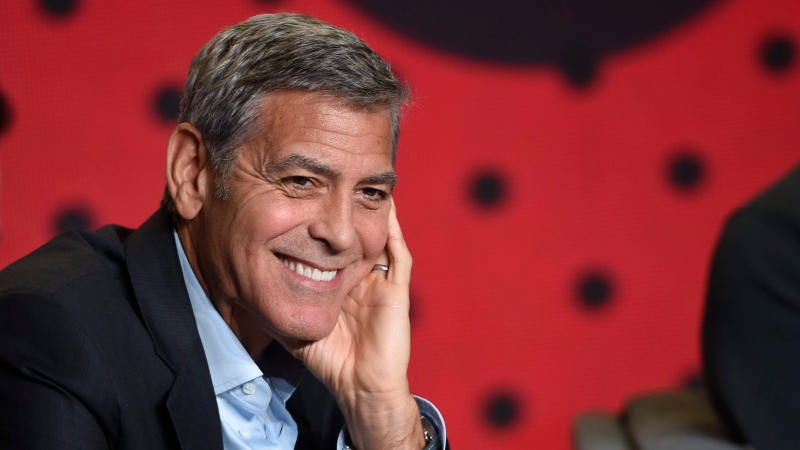 """George Clooney attends a press conference for """"Suburbicon"""" on day 4 of the Toronto International Film Festival at the TIFF Bell Lightbox in Toronto on Sunday, Sept. 10, 2017. (Photo by Chris Pizzello/Invision/AP)"""