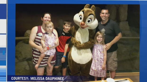Tom Stears, with Melissa Dauphinee and three children were left stuck at Walt Disney World, Sunday Sept. 10, 2017.