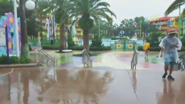 Disney World was shut down ahead of Hurricane Irma on Sunday and in the aftermath on Monday.