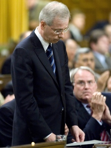 Liberal leader Stephane Dion pays tribute to the three Canadian soldiers killed in Kandahar Province, Afghanistan, during question period in the House of Commons in Ottawa Wednesday, June 20, 2007. (CP / Tom Hanson)