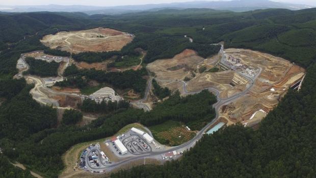 Gold mine complex in Skouries, Greece