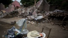 A home destroyed by the earthquake in Asuncion Ixtaltepec, Oaxaca state, Mexico, on Sept. 10, 2017. (Rebecca Blackwell / AP)