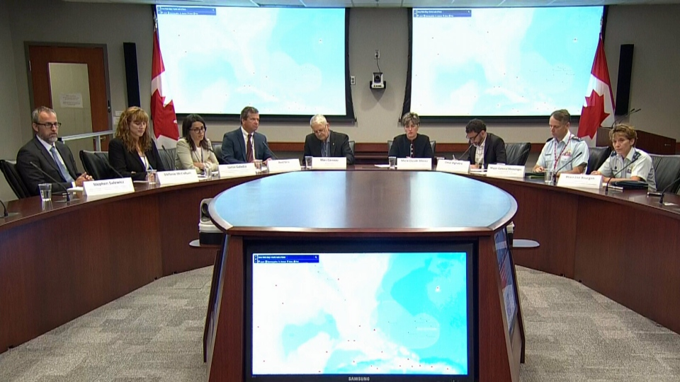 A special team from Global Affairs Canada and the Department of National Defence hold a briefing on relief efforts to the Caribbean, Monday, Sept. 11, 2017.