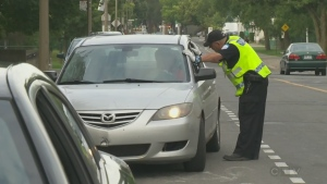 police, montreal, ticket