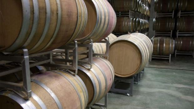 The barrel room is shown at Black Hills Estate in Oliver, B.C. (Black Hills Estate)